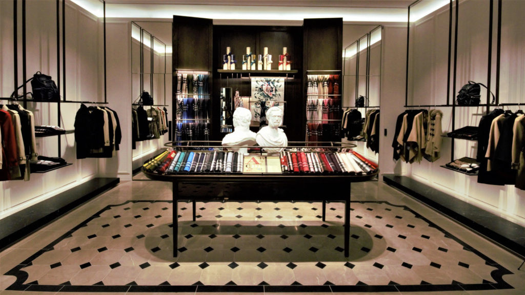 Cogesim General Contractor luxury retail Burberry